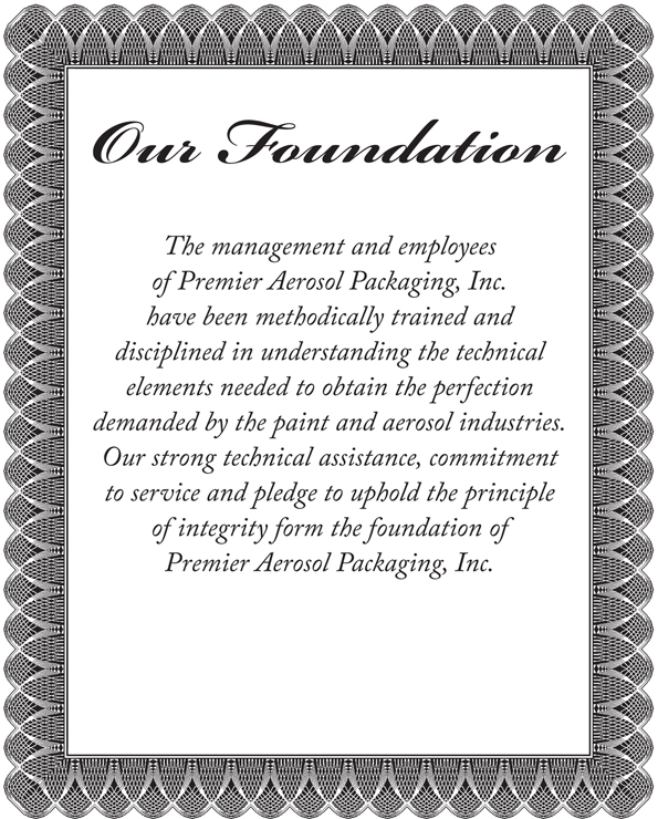 OUR FOUNDATION